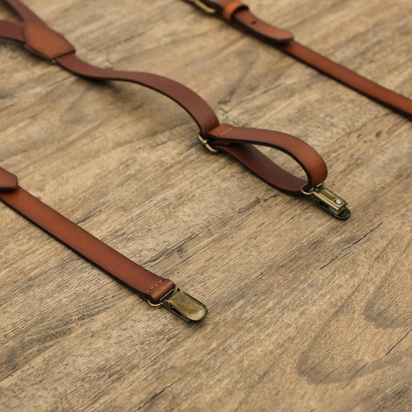 Wedding Groomsmen Leather Suspenders Party Suspenders Men's Suspenders Casual Suspenders 0194 - LISABAG
