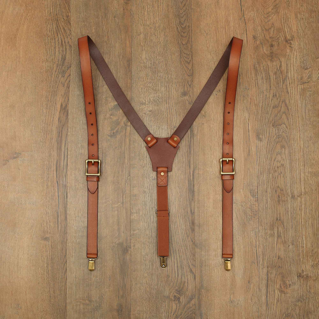 Wedding Groomsmen Suspenders Party Leather Suspenders Gentlemen Suspenders Men's Suspenders 0209 - LISABAG