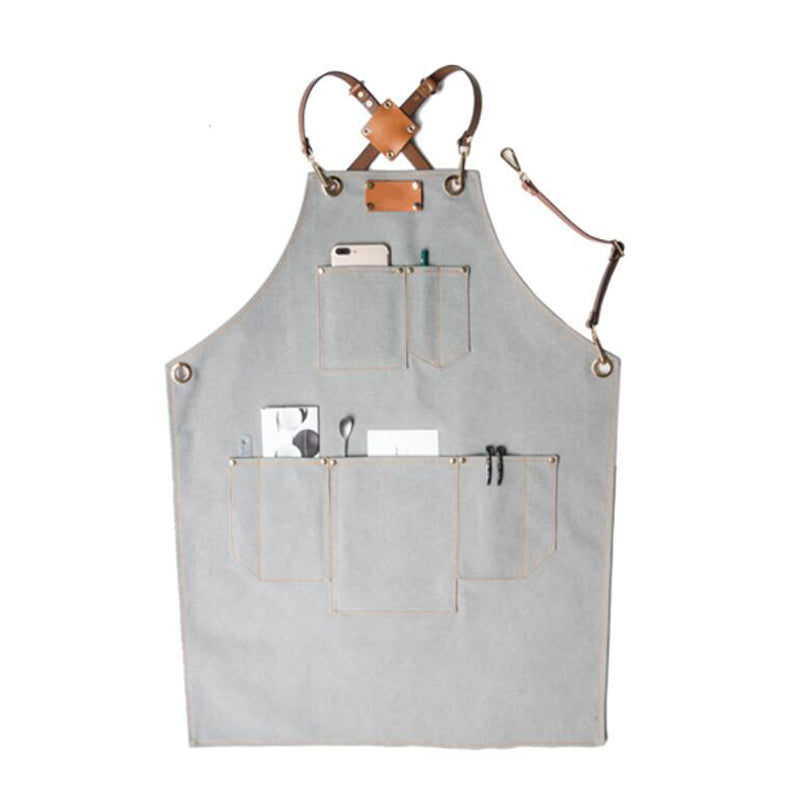 Work Apron Handmade Canvas Apron Shop Apron Stylish Restaurant Apron Server Apron Three Sizes Apron GPG924-X - LISABAG