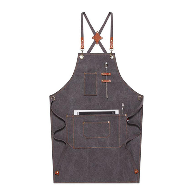 Work Apron Personalized Canvas Apron Cooking Apron Custom Workshop Apron Waterproof ApronM79-17B - LISABAG