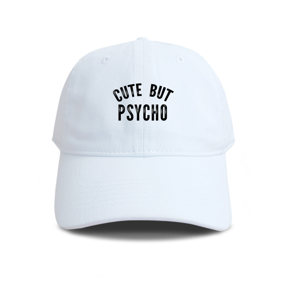 deea14c37a033 Cute But Psycho Embroidered Baseball Hat Cotton Unisex Size ...