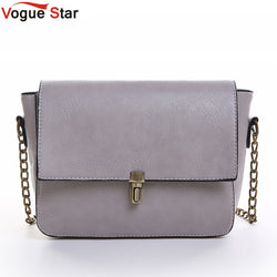 Vogue Star 2017 new Designer chain Women Messenger Bags PU Leather Small Crossbody Shoulder Bags Women Black Casual Bag LA52