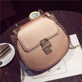 Mini Hasp Saddle Bag Chain Bags Handbags Women Famous Brands 2017 PU Leather Shoulder Messenger Bags Womens Ladies crossbody Bag