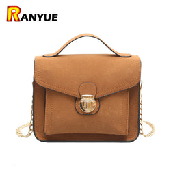 Small Mini Chain Flap Bag Women Messenger Bags Vintage Nubuck Women Leather Handbags Famous Brand Crossbody Tote Bolsas Femenina