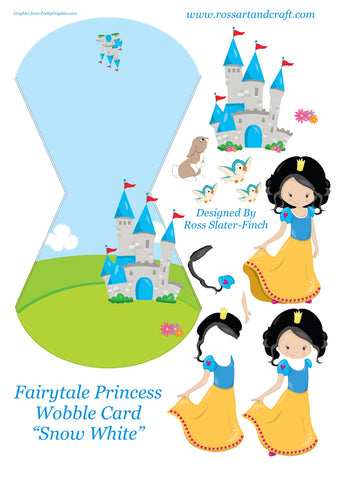 Fairytale Princess - Snow White Wobble Card Digital Cardmaking Download
