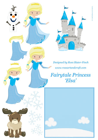 Fairytale Princess - Elsa Step-By-Step Digital Cardmaking Download
