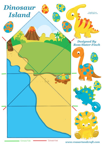 Dinosaurs Diamond Topped Card Digital Cardmaking Download