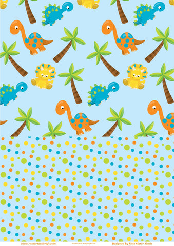 Dinosaurs Background Paper Digital Cardmaking Download