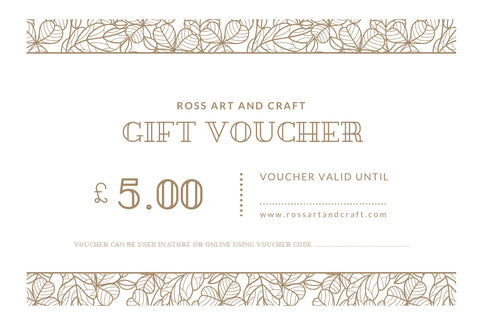 Ross Art and Craft Gift Card