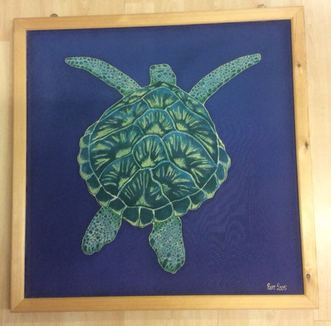 Silk Painting of a Turtle