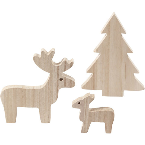 Deer and Spruce Wooden Set