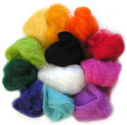 10g Bags of Felting Wool