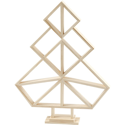 Wooden Geometric Christmas Tree