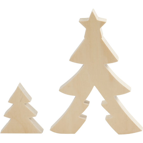 Plywood Christmas Tree Set
