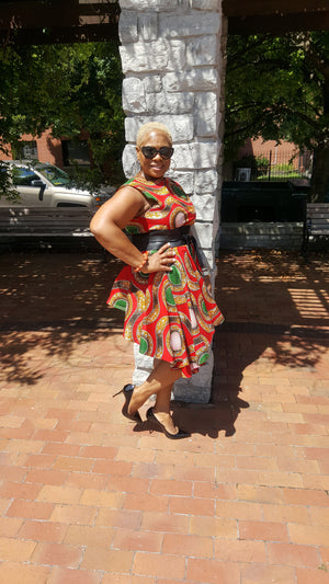 TShanell Exclusive Afrocentric Peplum Dress