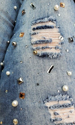 Plus Jeweled Jeans