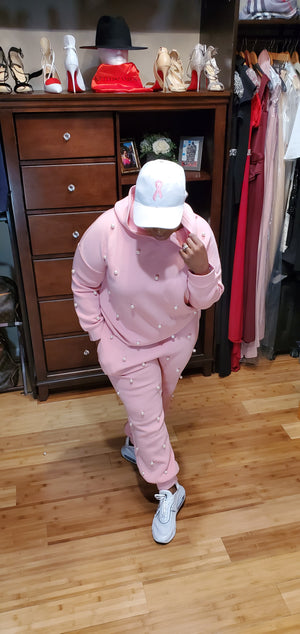 Pink Passion Pearl Jogger Set