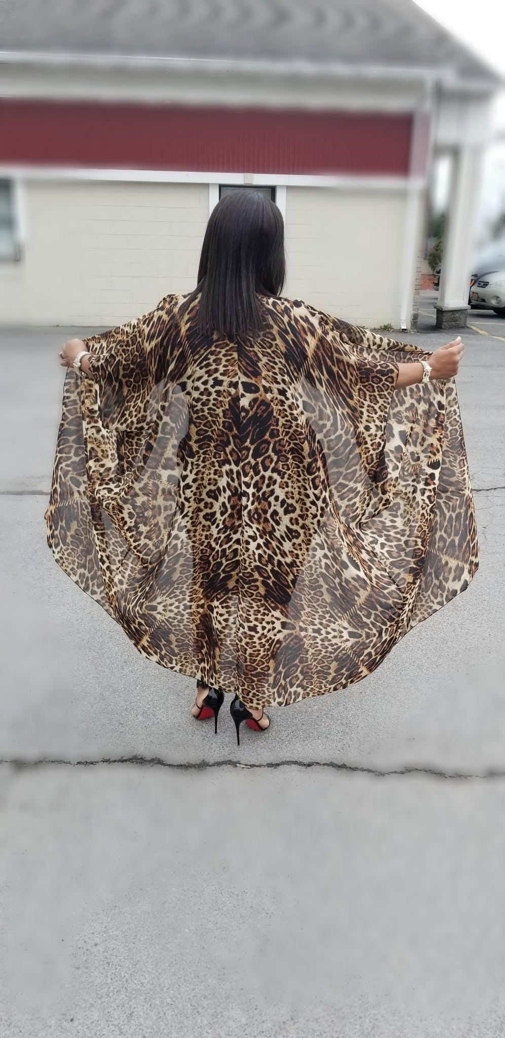 Animal Print Cardigan/Coverup