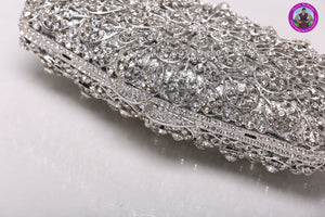 Clear Swarovski Crystal Clutch