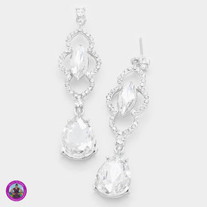 Crystal Evening Earrings 1078