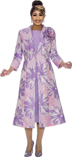 2pc Brocade Coat Dress