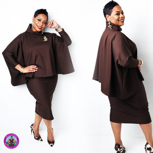 TShanell Designs Exclusive 2pc Ponte Midi Skirt