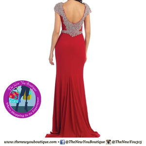 Low Back Beaded Gown