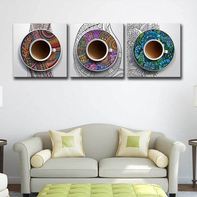 3 Coffee Cups - Amazing Canvas Prints