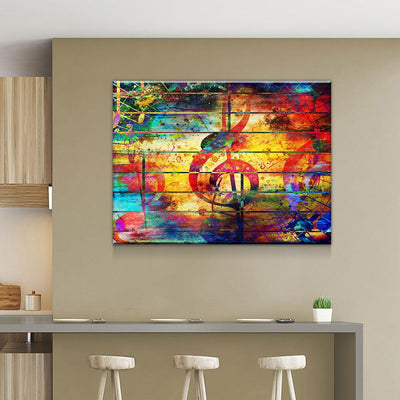 Abstract Musical Notes - Amazing Canvas Prints
