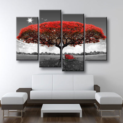 Beautiful Autumn Red Tree - Amazing Canvas Prints