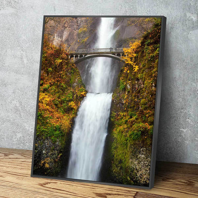 Autumn Time At Multnomah Falls - Amazing Canvas Prints