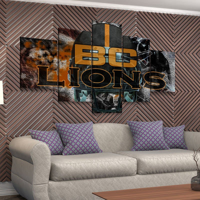 BC Lions - Amazing Canvas Prints