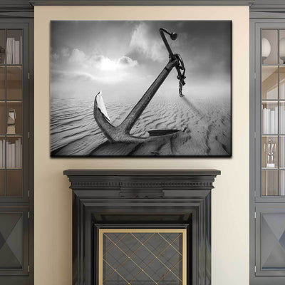 Black And White Anchor - Amazing Canvas Prints