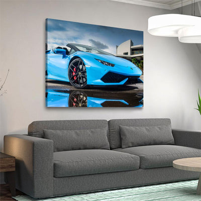 Blue Lamborghini - Amazing Canvas Prints