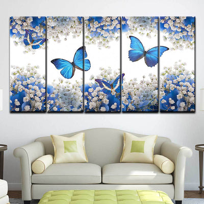 Butterflies and Flowers - Amazing Canvas Prints