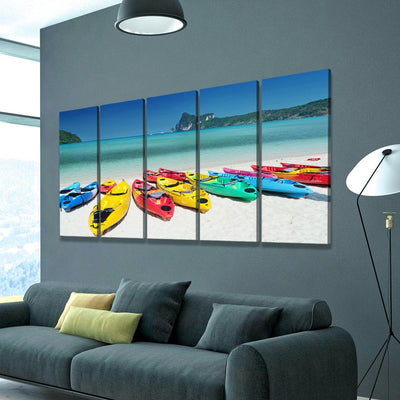 Colorful Kayaks - Amazing Canvas Prints