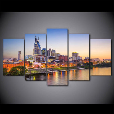 Downtown Nashville Tennessee - Amazing Canvas Prints