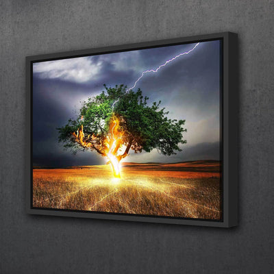 Electrified Tree - Amazing Canvas Prints