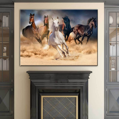 Five Horses - Amazing Canvas Prints