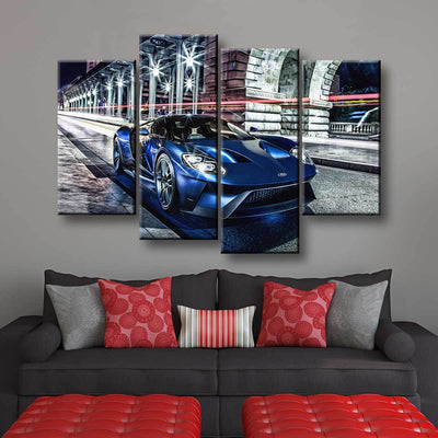 Ford GT Supercar - Amazing Canvas Prints