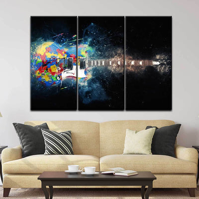 Guitar Color Splash - Amazing Canvas Prints