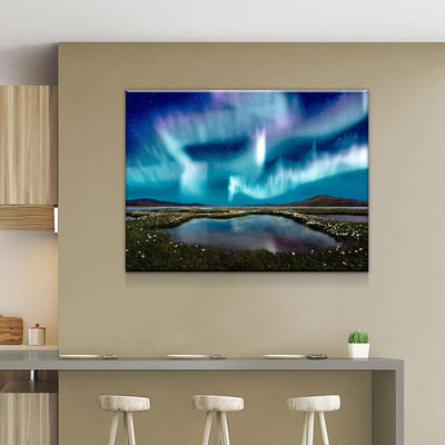 Ice Blue Aurora - Amazing Canvas Prints
