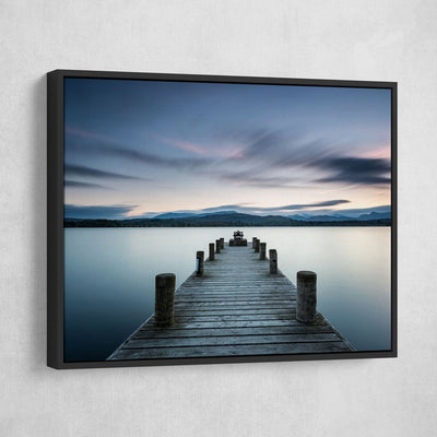 Lake Pier At Dusk - Amazing Canvas Prints