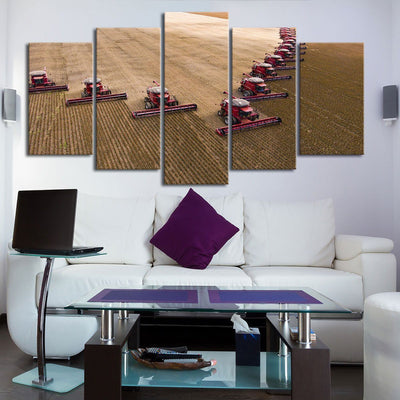 Line Those Harvesters Up - Amazing Canvas Prints