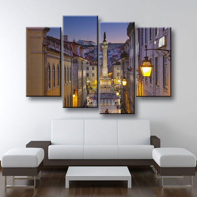 Lisbon Portugal At Twilight - Amazing Canvas Prints