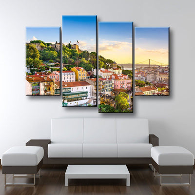 Lisbon Portugal Skyline - Amazing Canvas Prints