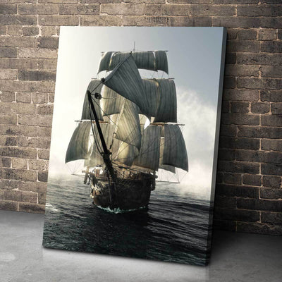 Lone Sailing Ship - Amazing Canvas Prints
