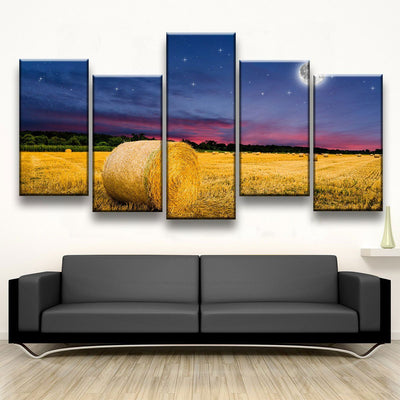 Moonlight Bales - Amazing Canvas Prints