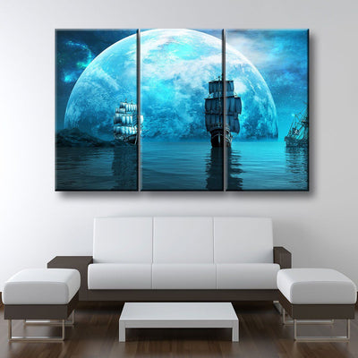 Moonlight Sailing - Amazing Canvas Prints