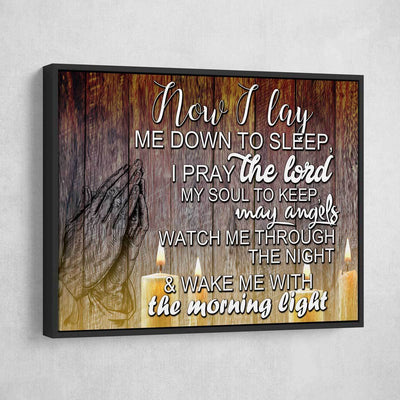 Now I Lay Me Down To Sleep - Amazing Canvas Prints